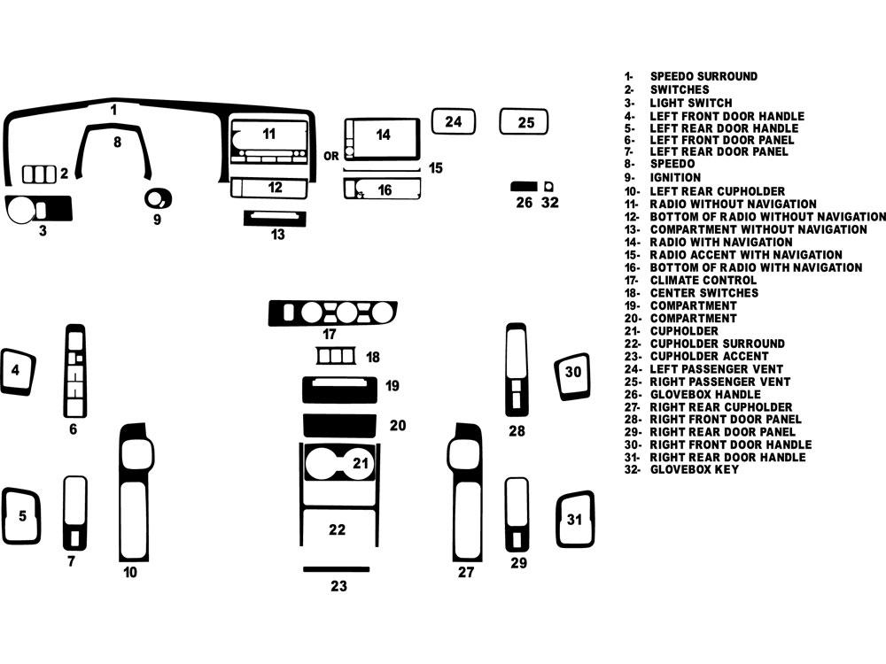 2009 honda ridgeline dash kits