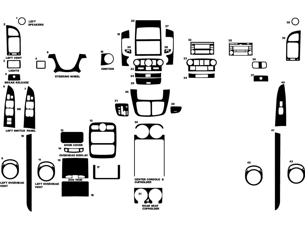 2007 hyundai entourage dash kits