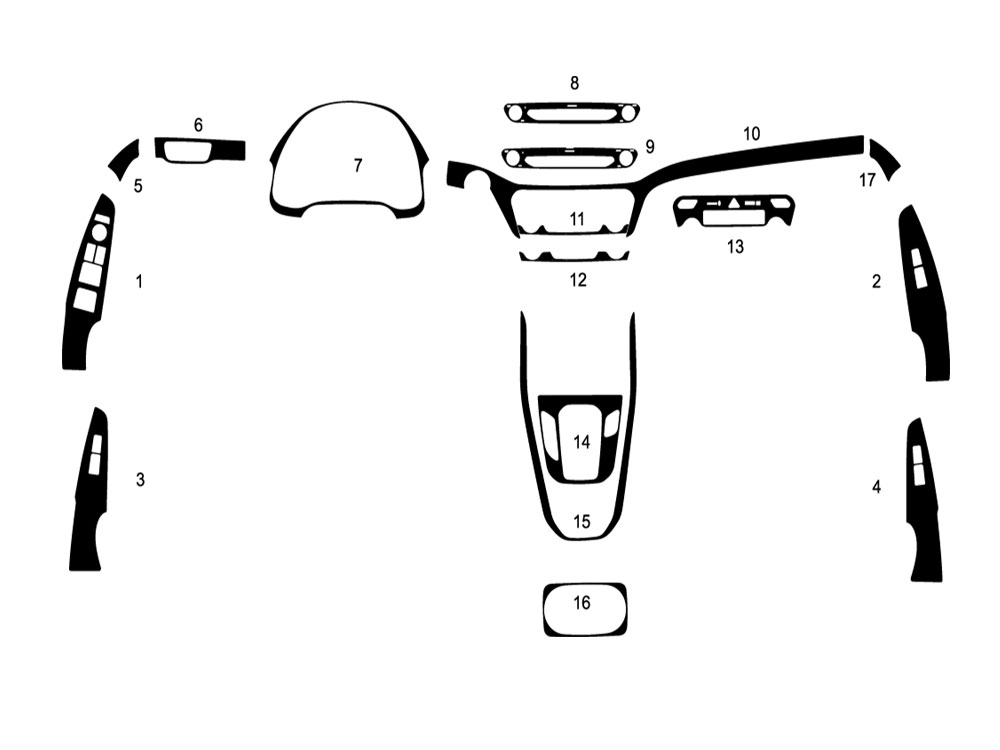 Hyundai Ioniq 2018-2019 Dash Kit Diagram