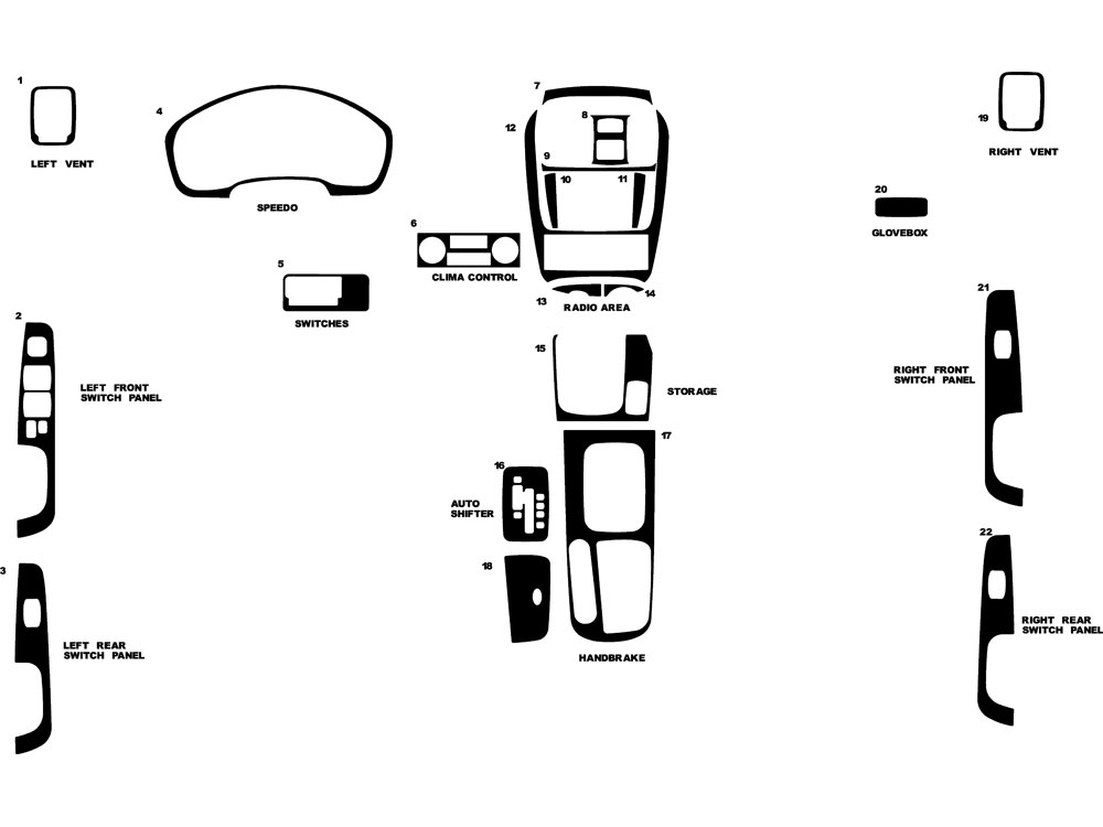 Hyundai Sonata 2002-2005 Dash Kit Diagram