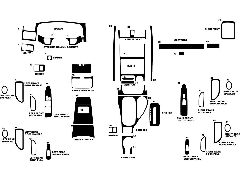 2002 Isuzu Axiom Dash Kits Custom 2002 Isuzu Axiom Dash Kit