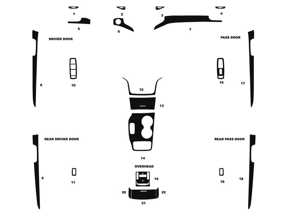Jeep Grand Cherokee 2014-2016 Dash Kit Diagram