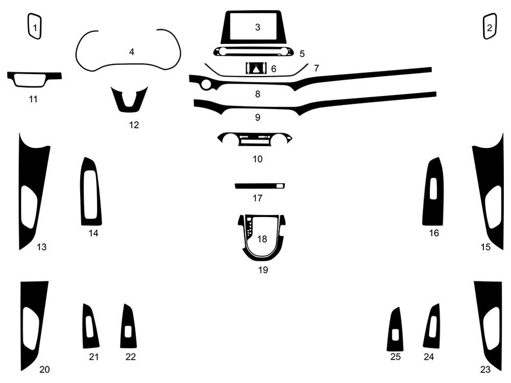 Rdash Dash Kit for Kia Forte 2019-2019 Auto Interior Decal