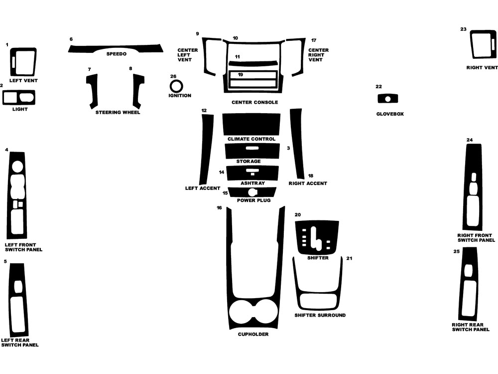 Kia Sorento 2008-2010 Dash Kit Diagram