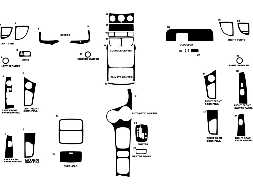 Kia Sportage 2009-2010 Dash Kit Diagram