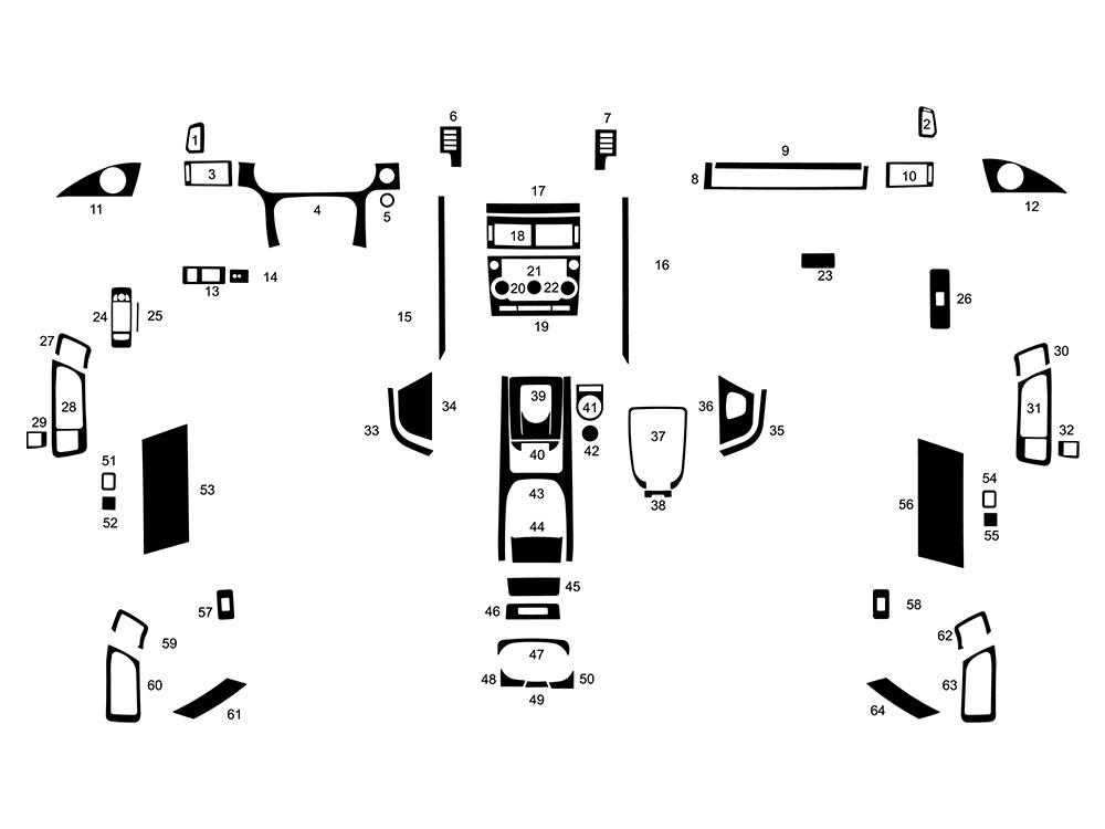 Land Rover Discovery Sport 2015-2019 Dash Kit Diagram