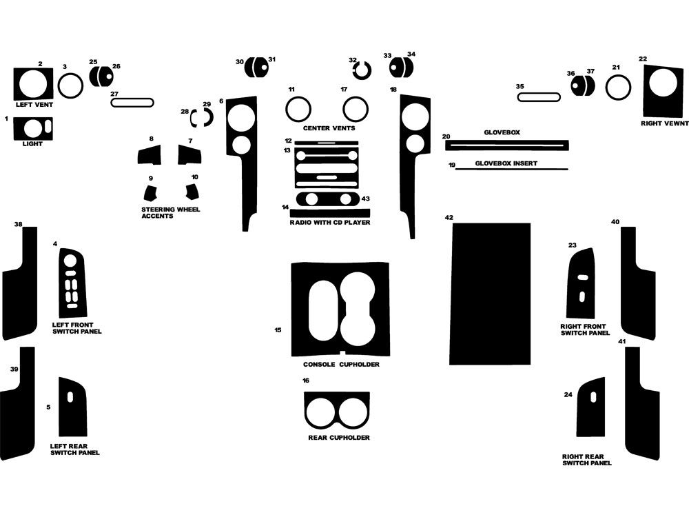 Lincoln Mark LT 2006-2008 Dash Kit Diagram
