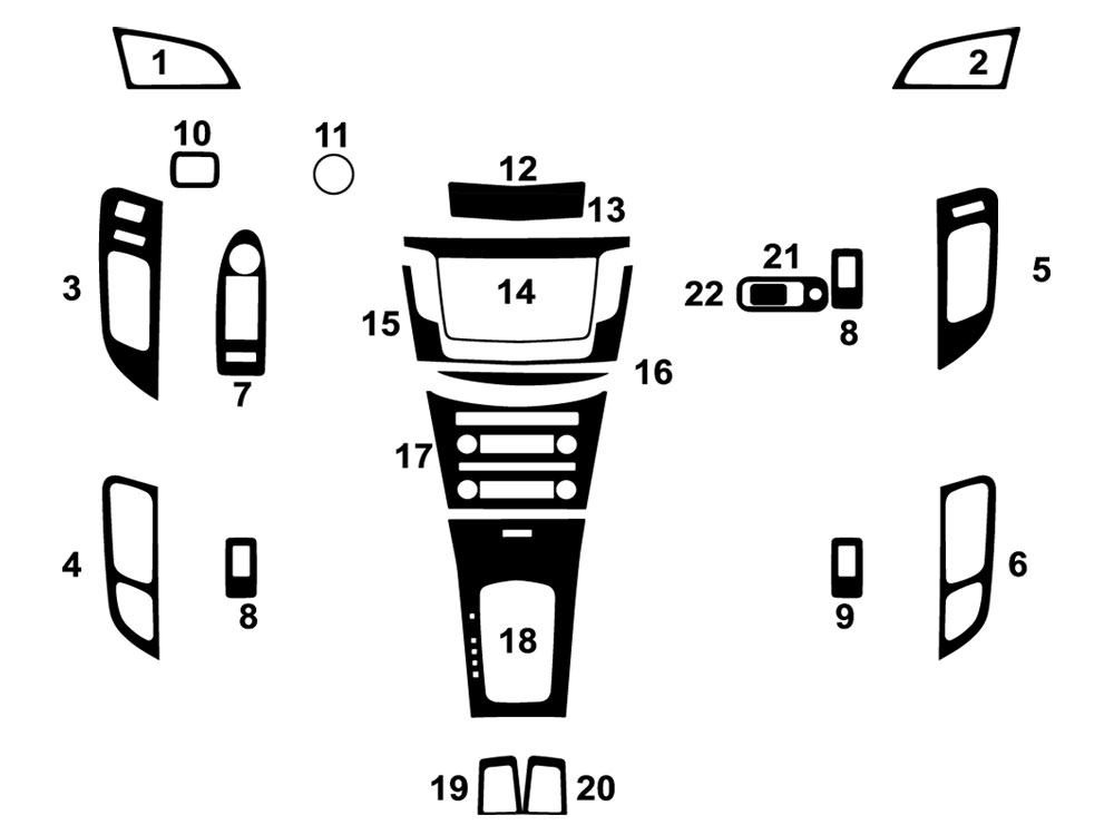 Lincoln MKT 2010-2012 Dash Kit Diagram