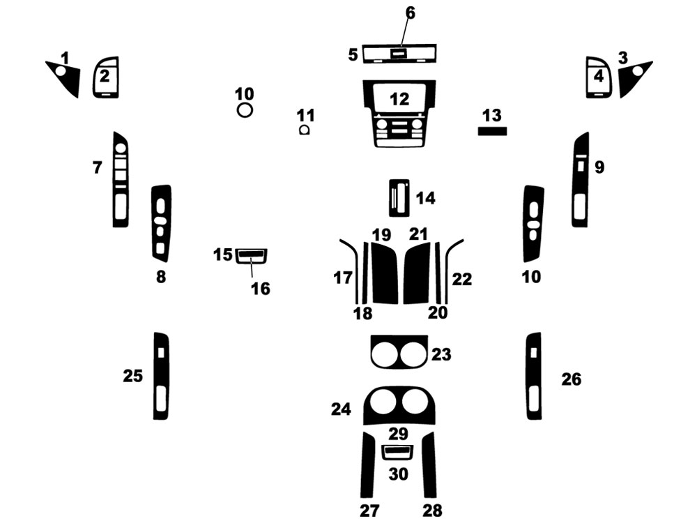 Lincoln Navigator 2015-2017 Dash Kit Diagram