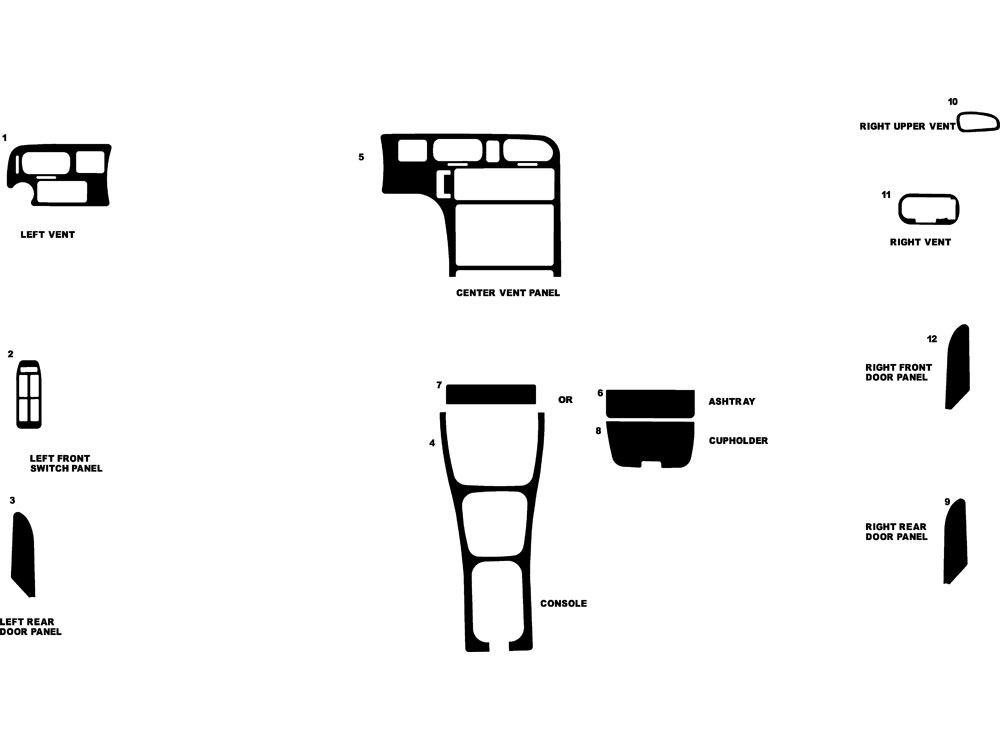 Mazda 626 1993-1994 Dash Kit Diagram