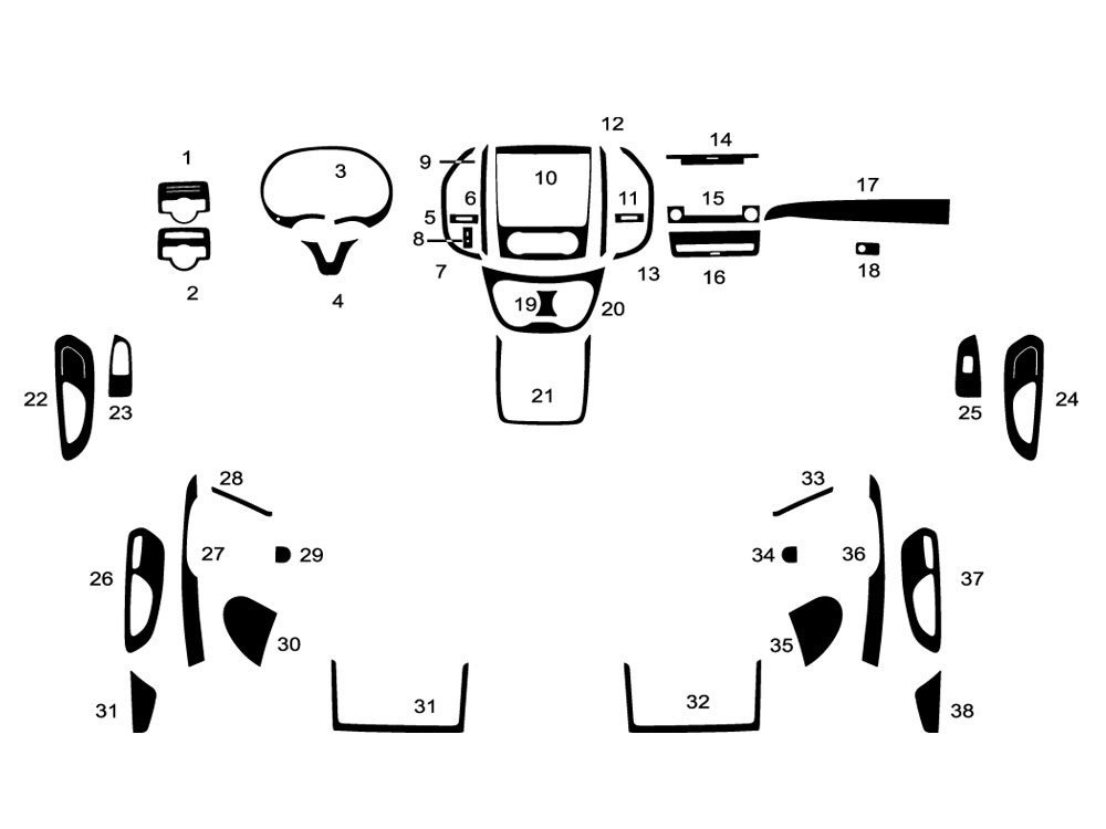 Mercedes-Benz Metris 2016-2017 Dash Kit Diagram
