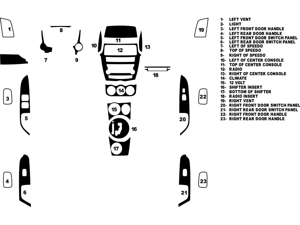 Mitsubishi Outlander Sport 2011-2013 Dash Kit Diagram