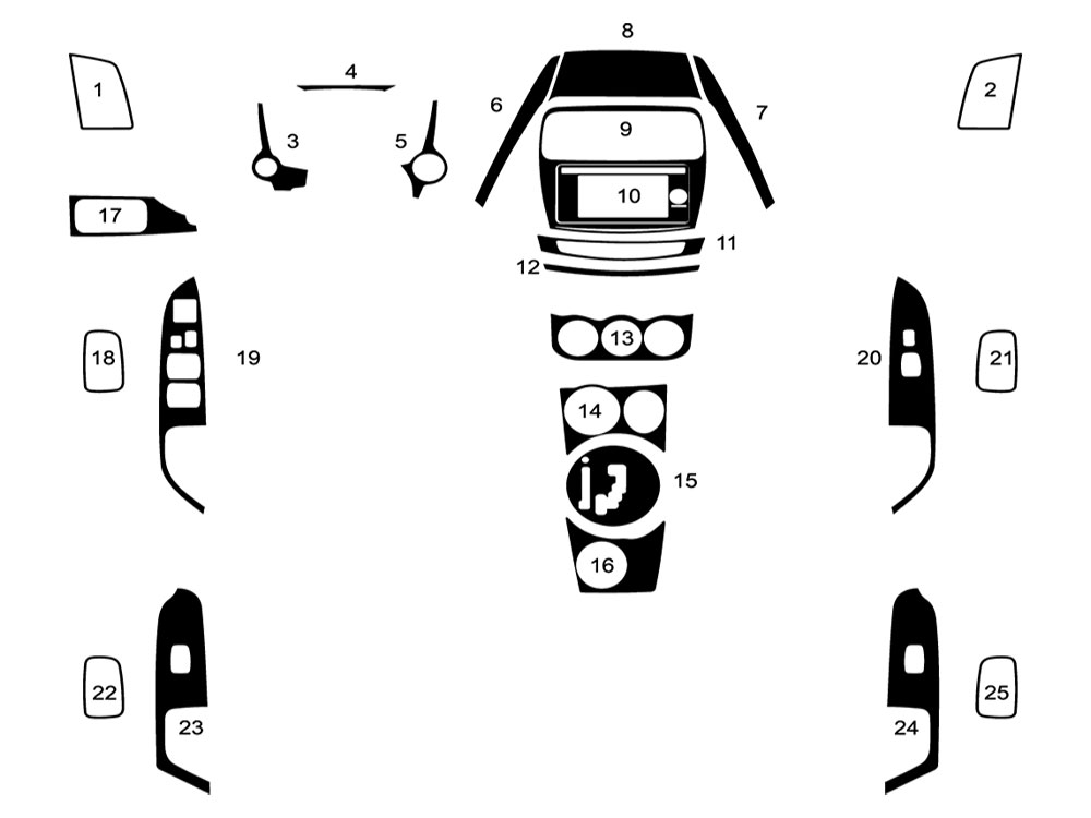 mitsubishi outlander sport 2015-2018 dash kit diagram