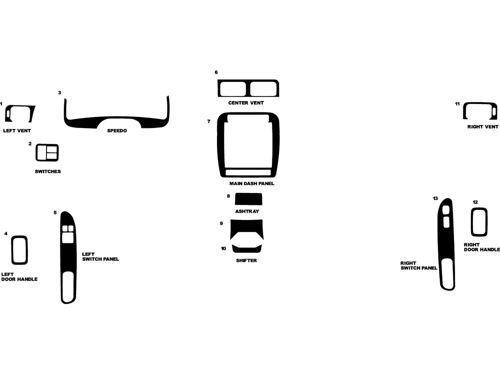 Nissan 200SX 1995-1998 Dash Kit Diagram
