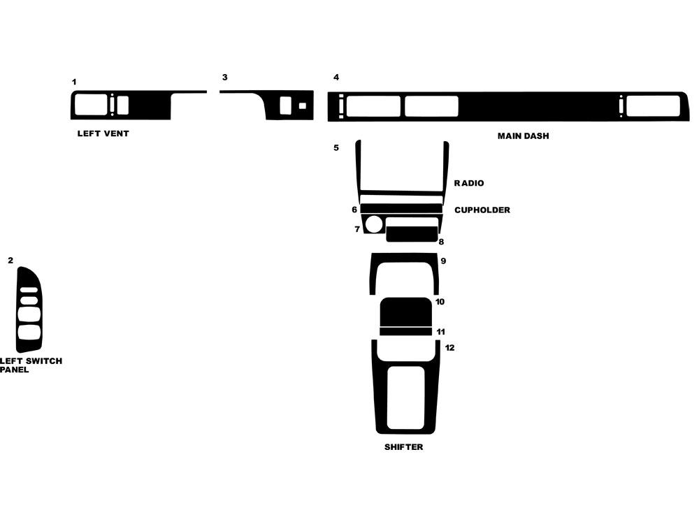 1995 nissan altima dash kits