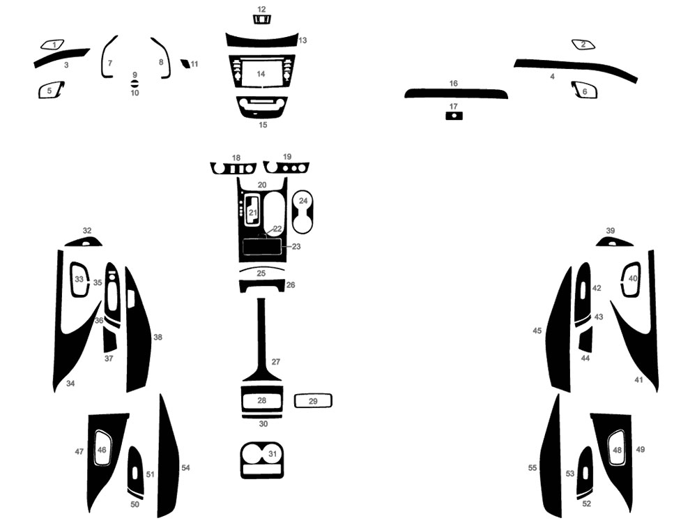 Nissan Murano 2015-2018 Dash Kit Diagram