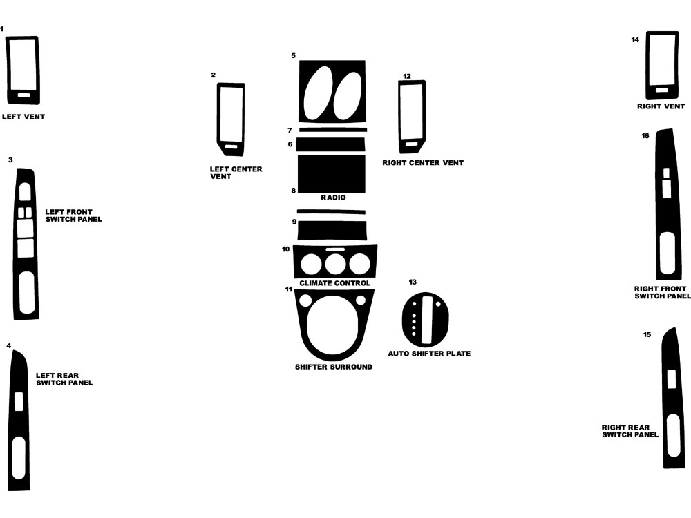 nissan sentra 2007-2012 dash kit diagram