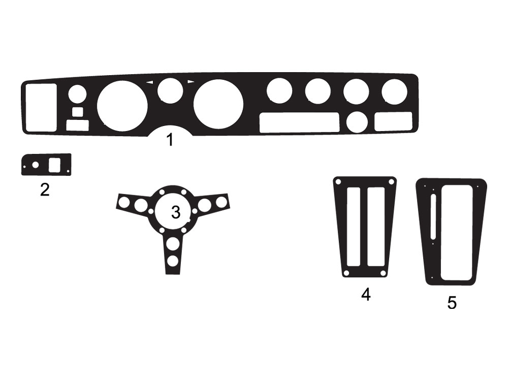 Pontiac Firebird 1971-1981 Dash Kit Diagram