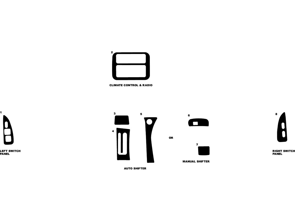 Pontiac Firebird 1993-1996 Dash Kit Diagram