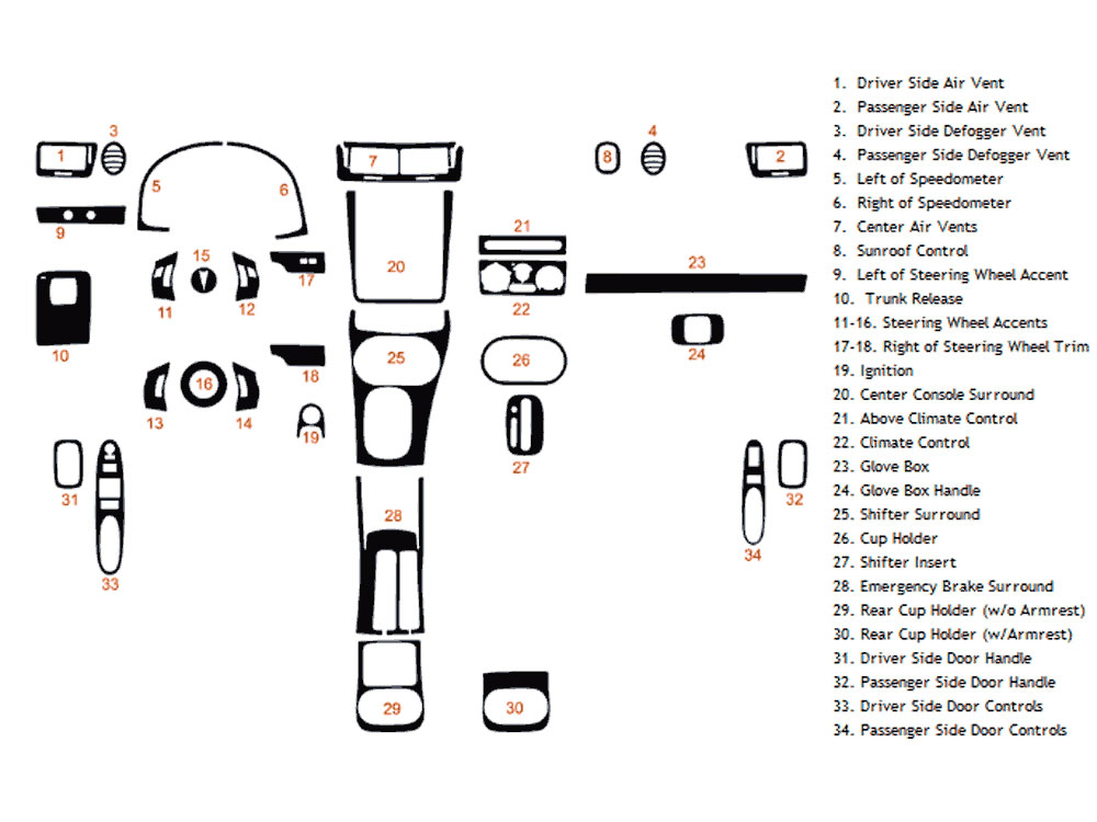 Pontiac G5 2007-2009 Dash Kit Diagram