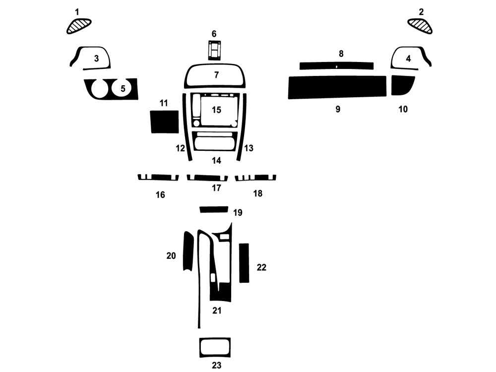 Porsche 911 2005-2012 Dash Kit Diagram