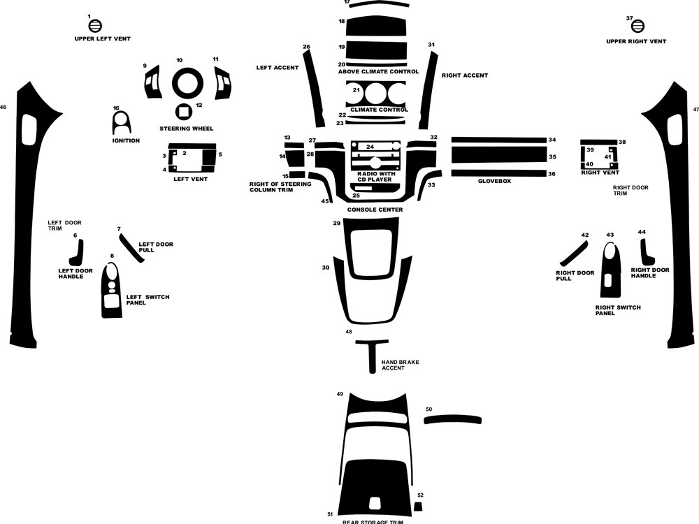 Saturn Sky 2007-2009 Dash Kit Diagram