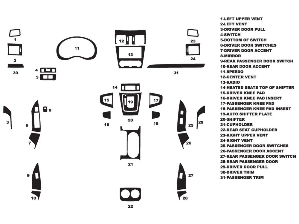 2015 Subaru Forester Dash Kits
