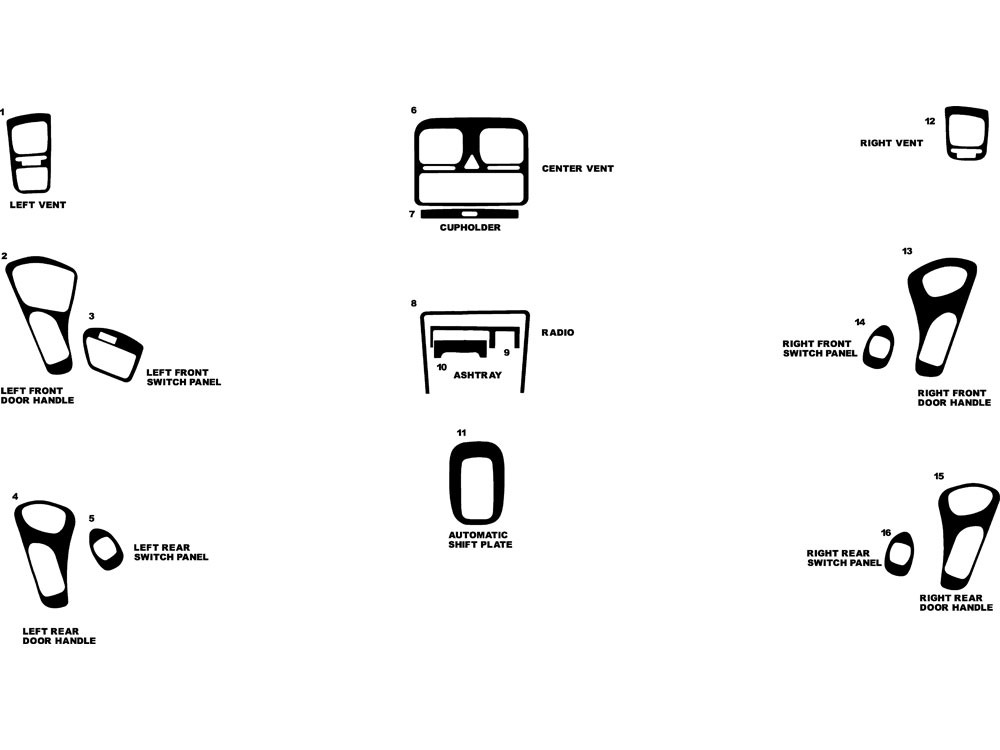Subaru Outback 1996-1999 Dash Kit Diagram