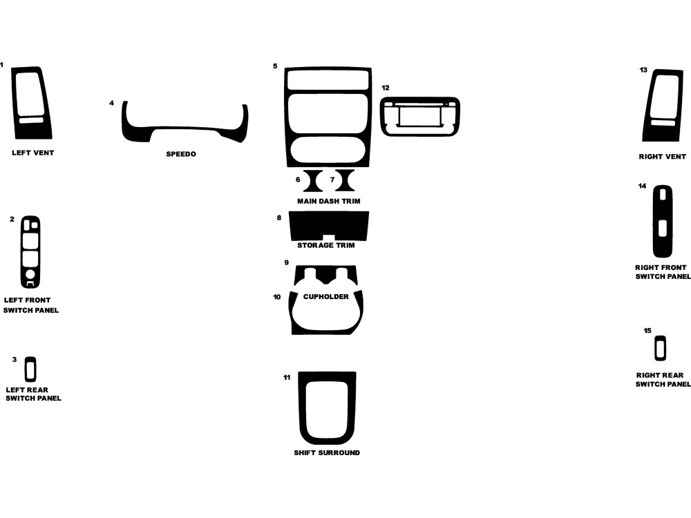 Suzuki Aerio 2005-2005 Dash Kit Diagram
