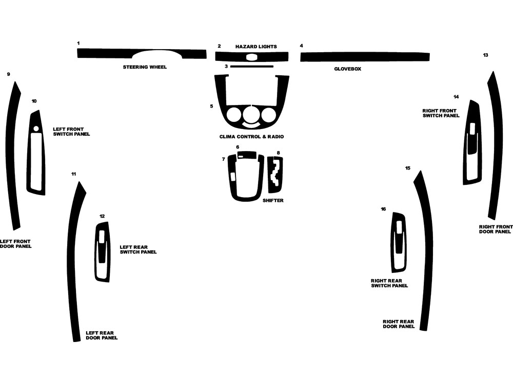 Suzuki Reno 2005-2008 Dash Kit Diagram