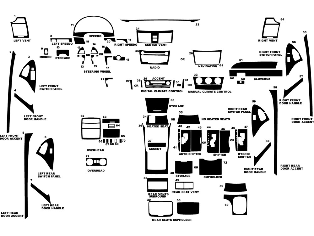 2007 Toyota Camry Interior Parts Diagram Www Indiepedia Org
