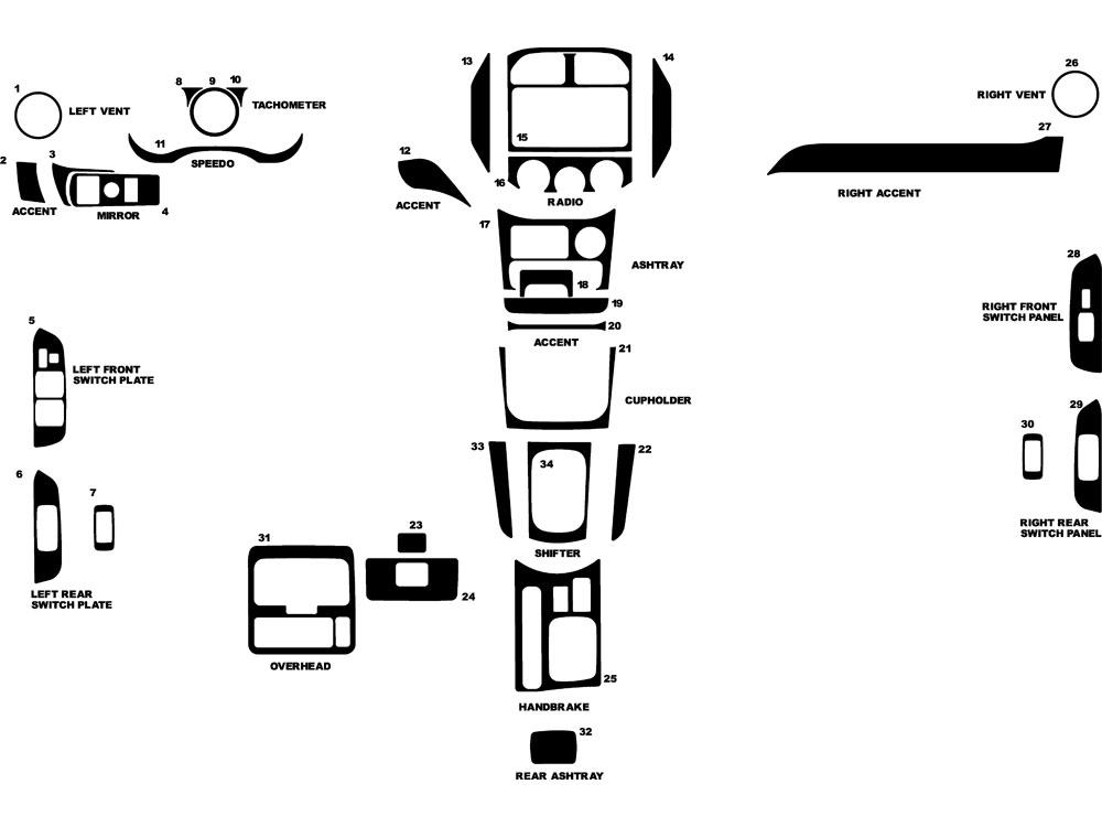 2004 Toyota Rav4 Dash Kits