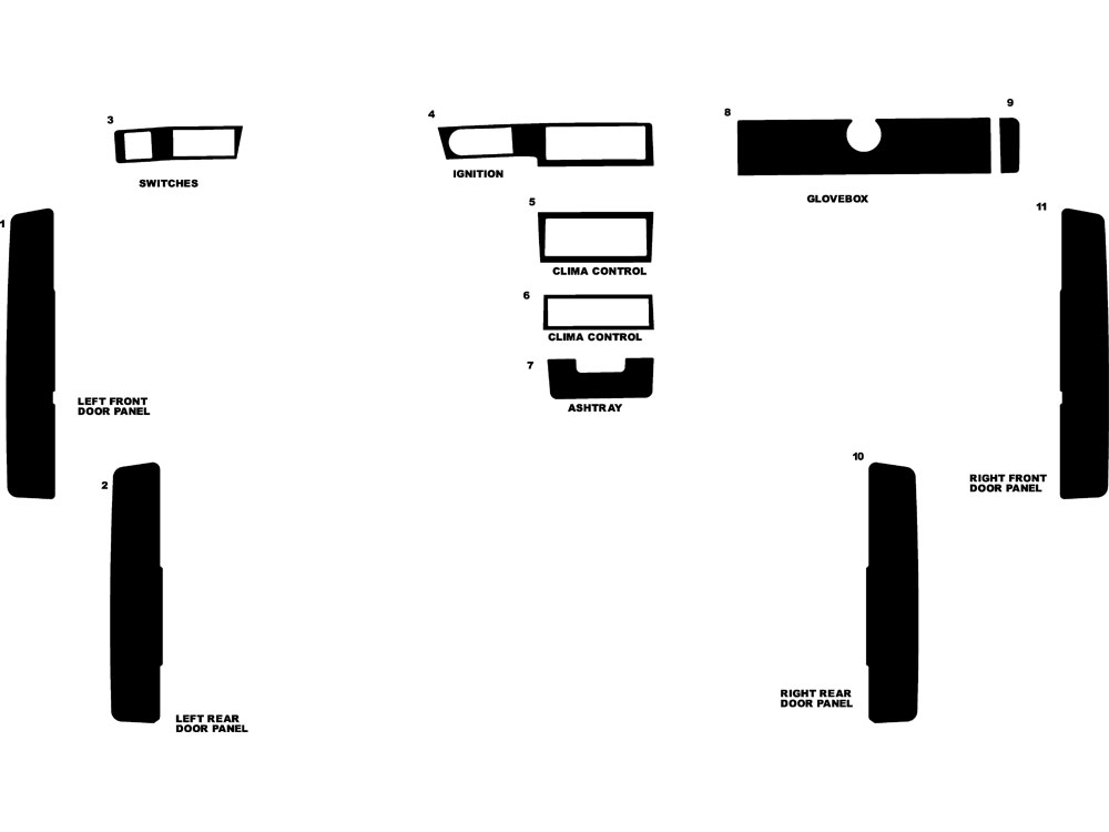 Volvo 940 1992-1995 Dash Kit Diagram