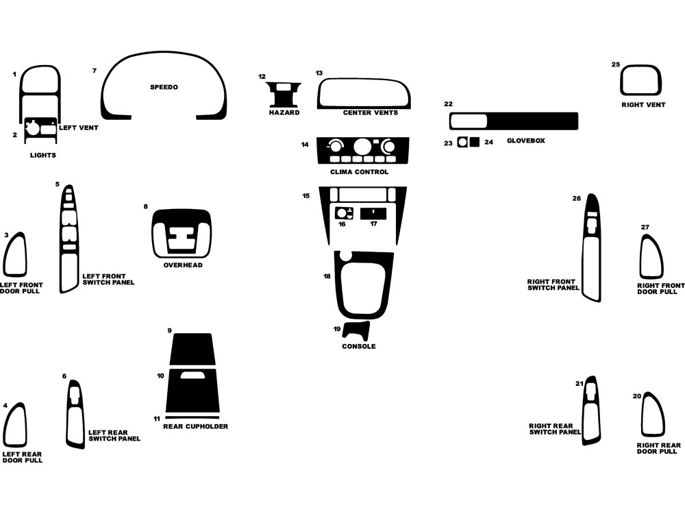 Volvo S40 2002-2003 Dash Kit Diagram