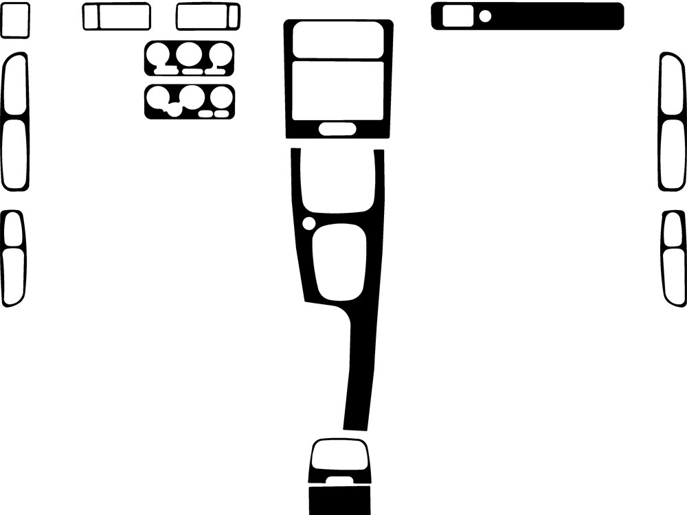 Volvo S70 1998-2000 Dash Kit Diagram