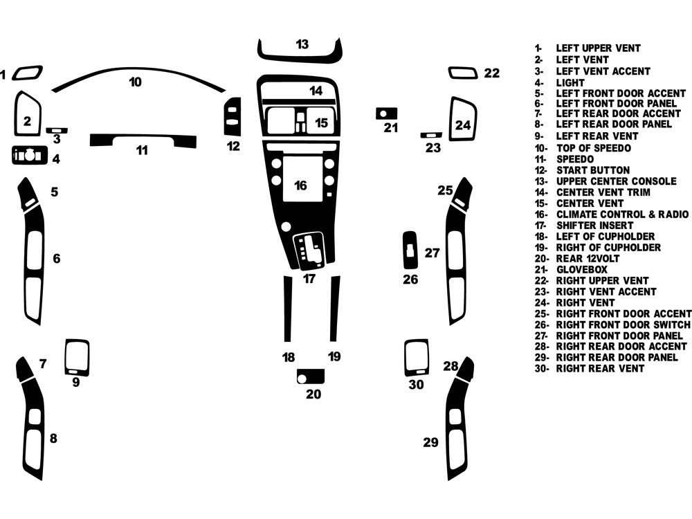 2010 volvo xc60 dash kits