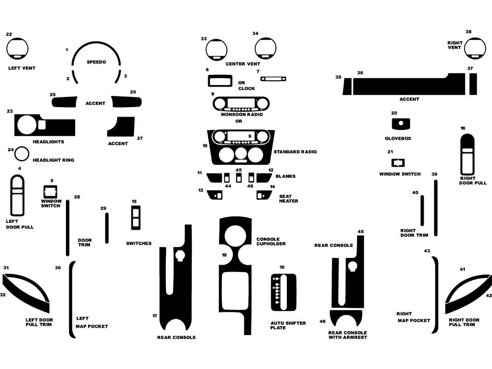 Rdash™ Volkswagen Beetle 1998-2002 Dash Kits
