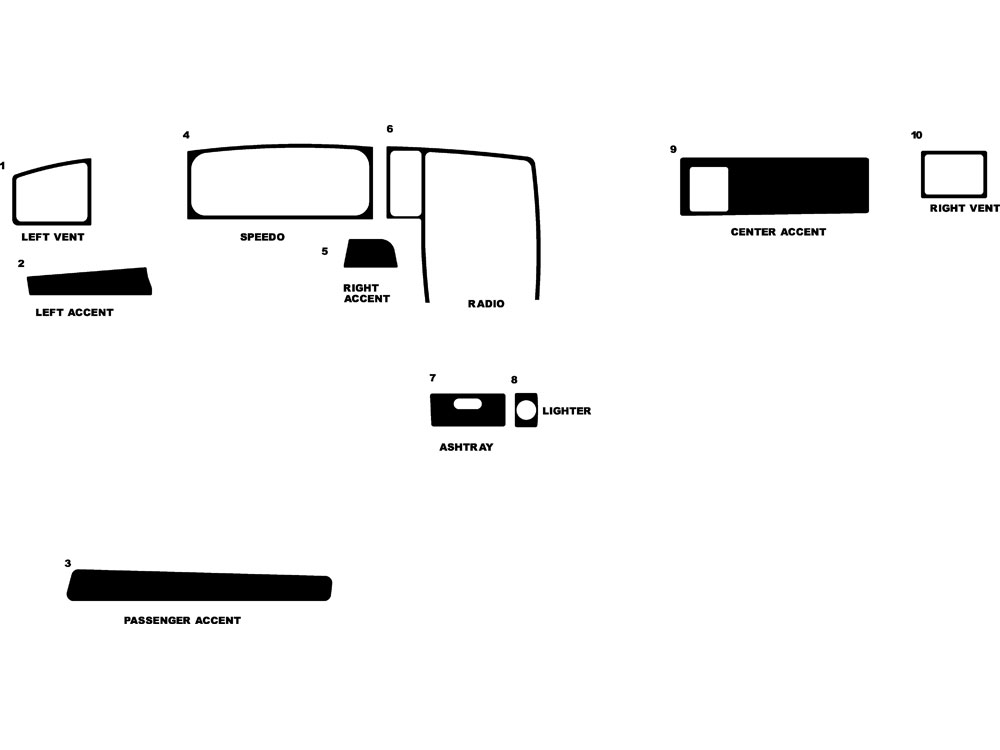 Volkswagen Corrado 1990-1994 Dash Kit Diagram