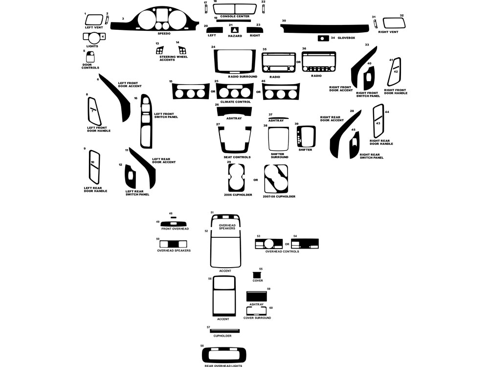Volkswagen Passat 2006-2010 Dash Kit Diagram