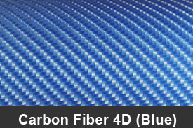 Blue 4D Carbon Fiber Pillar Post Trim Kits