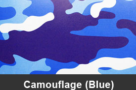Blue Camouflage Pillar Post Trim Kits