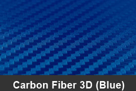 Blue 3D Carbon Fiber Pillar Post Trim Kits