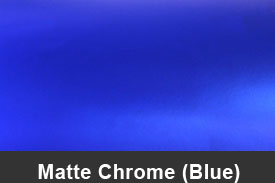 Blue Matte Chrome Pillar Post Trim Kits