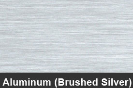 Silver Brushed Aluminum Pillar Post Trim Kits