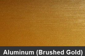 Gold Brushed Aluminum Pillar Post Trim Kits