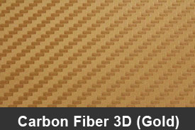 Gold 3D Carbon Fiber Pillar Post Trim Kits