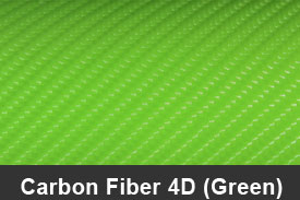 Green 4D Carbon Fiber Pillar Post Trim Kits