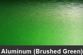 Green Brushed Aluminum Pillar Post Trim Kits