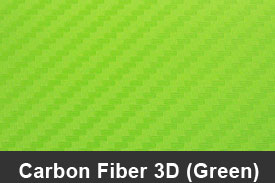 Green 3D Carbon Fiber Pillar Post Trim Kits