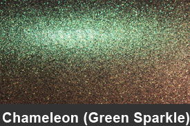 Green Sparkle Chameleon Pillar Post Trim Kits